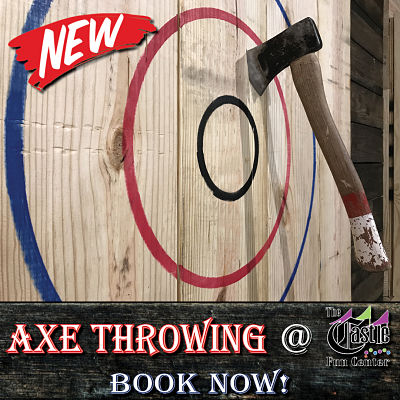 axe throwing at the castle
